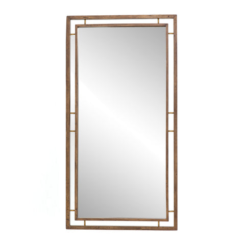 Belmundo Floor Mirror in Antique Brass by BD Studio