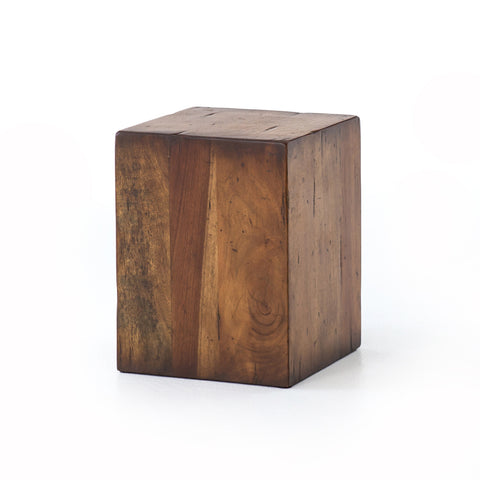 Duncan End Table in Reclaimed Fruitwood