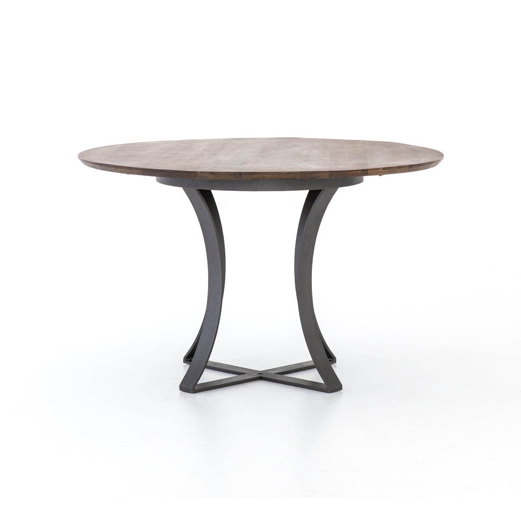 "Gage 48"" Dining Table in Tanner Brown design by BD Studio"