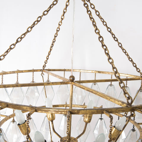 Adeline Large Round Chandelier in Various Colors