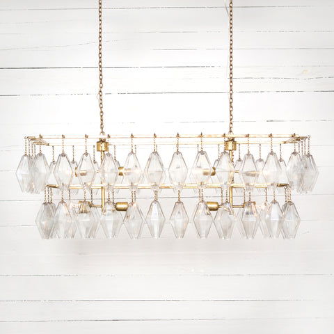 Adeline Rectangular Chandelier in Various Finishes by BD Studio