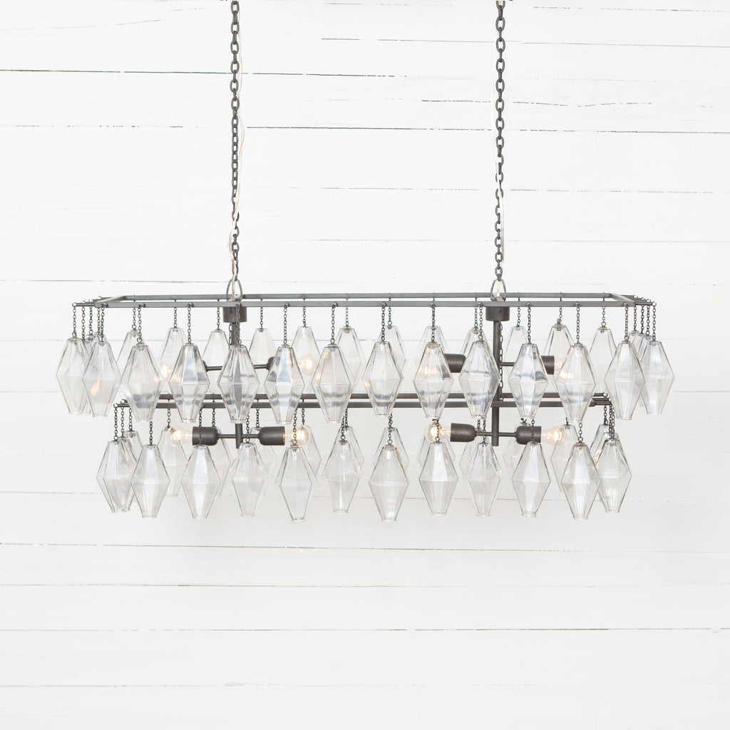 Adeline Rectangular Chandelier in Antiqued Iron