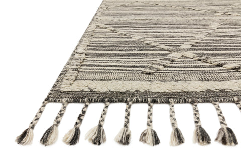 Iman Rug in Ivory / Charcoal by Loloi