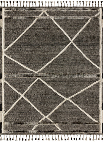 Iman Rug in Beige / Charcoal by Loloi