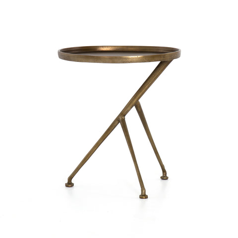 Schmidt Accent Table In Raw Brass