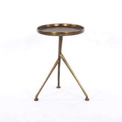 Schmidt Accent Table in Raw Brass by BD Studio