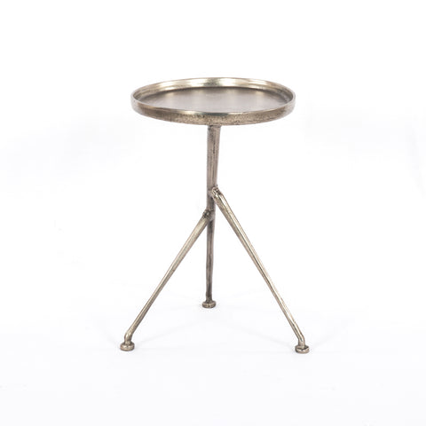 Schmidt Accent Table in Raw Antique Nickel by BD Studio