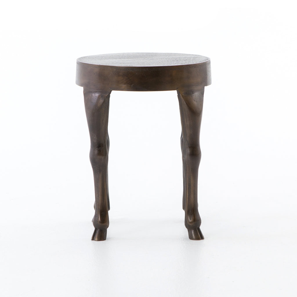 Hopedale End Table in Antique Rust