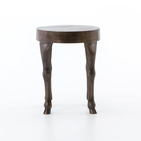 Hopedale End Table in Antique Rust by BD Studio
