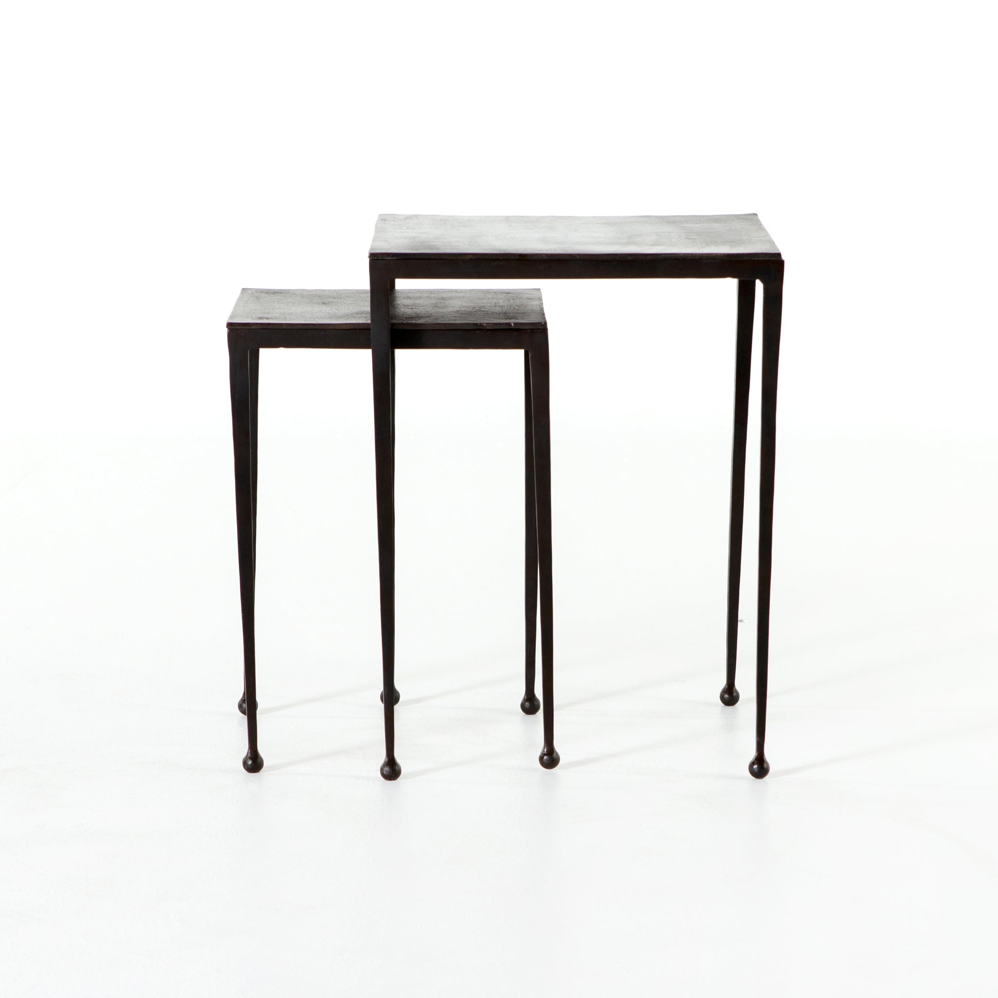 Burke Nesting Side Table: Dalston Nesting End Tables In Antique Brown By BD Studio
