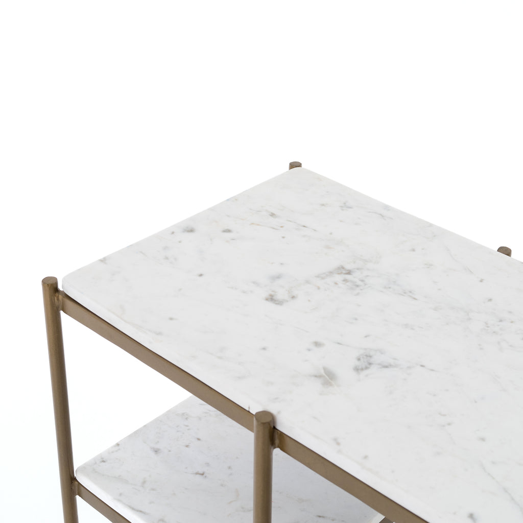 Lily Console Table In Antique Brass Burke Decor