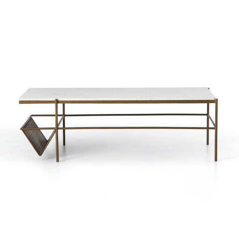 Felicity Coffee Table In Matte Brass