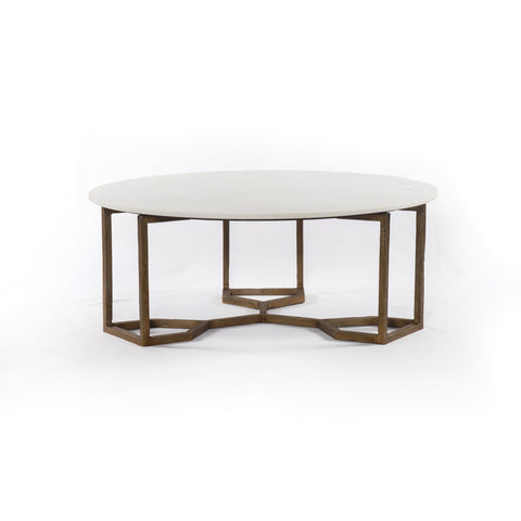 Naomi Coffee Table in Polished White Marble
