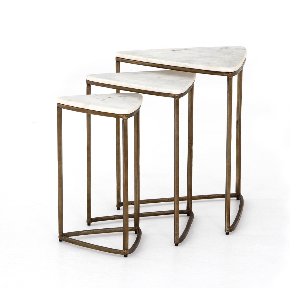 Raine End Tables, Set Of 3 in Various Colors by BD Studio