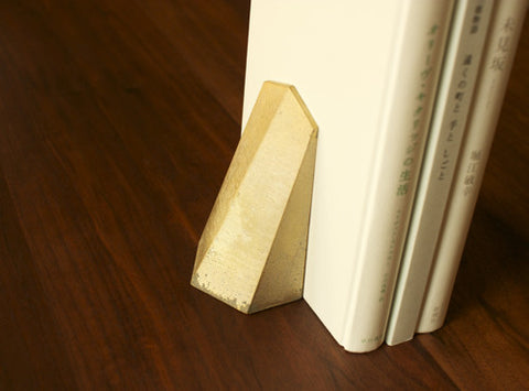 Komagata Brass Bookend design by Futagami