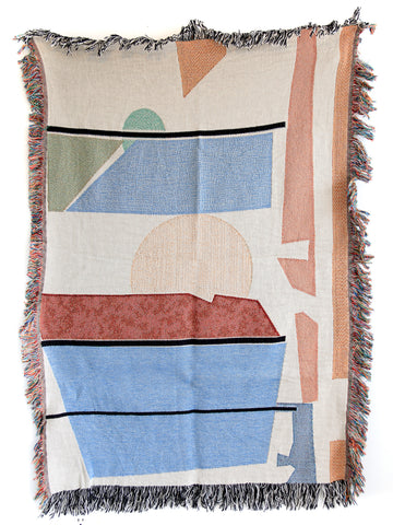 Summer Woven Throw Blankets by elise flashman