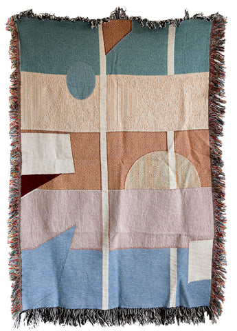 Fall Woven Throw Blankets by elise flashman