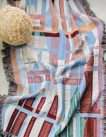 Muted Woven Throw Blankets by elise flashman