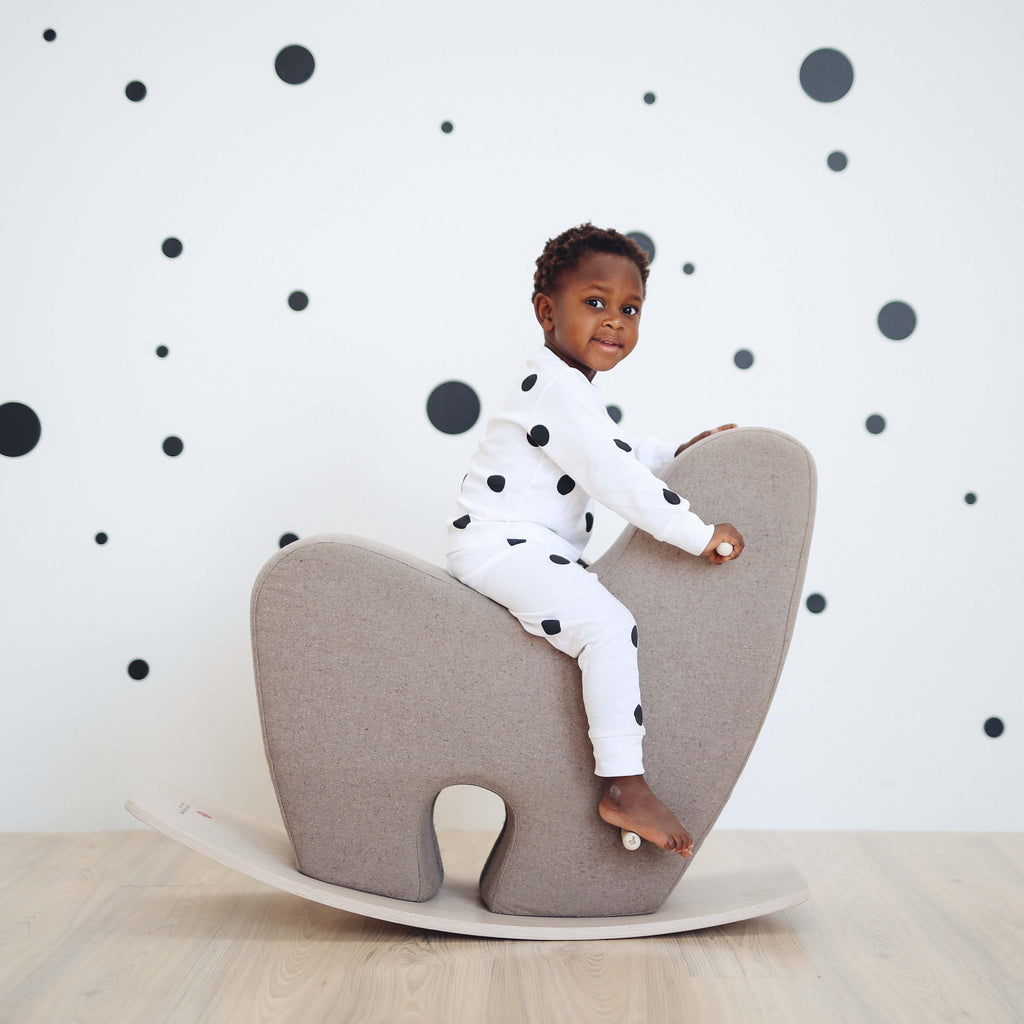 Toddler Rocking Horse in Grey