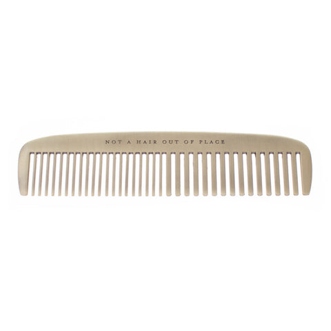 Not a Hair Out of Place Brass Comb design by Izola
