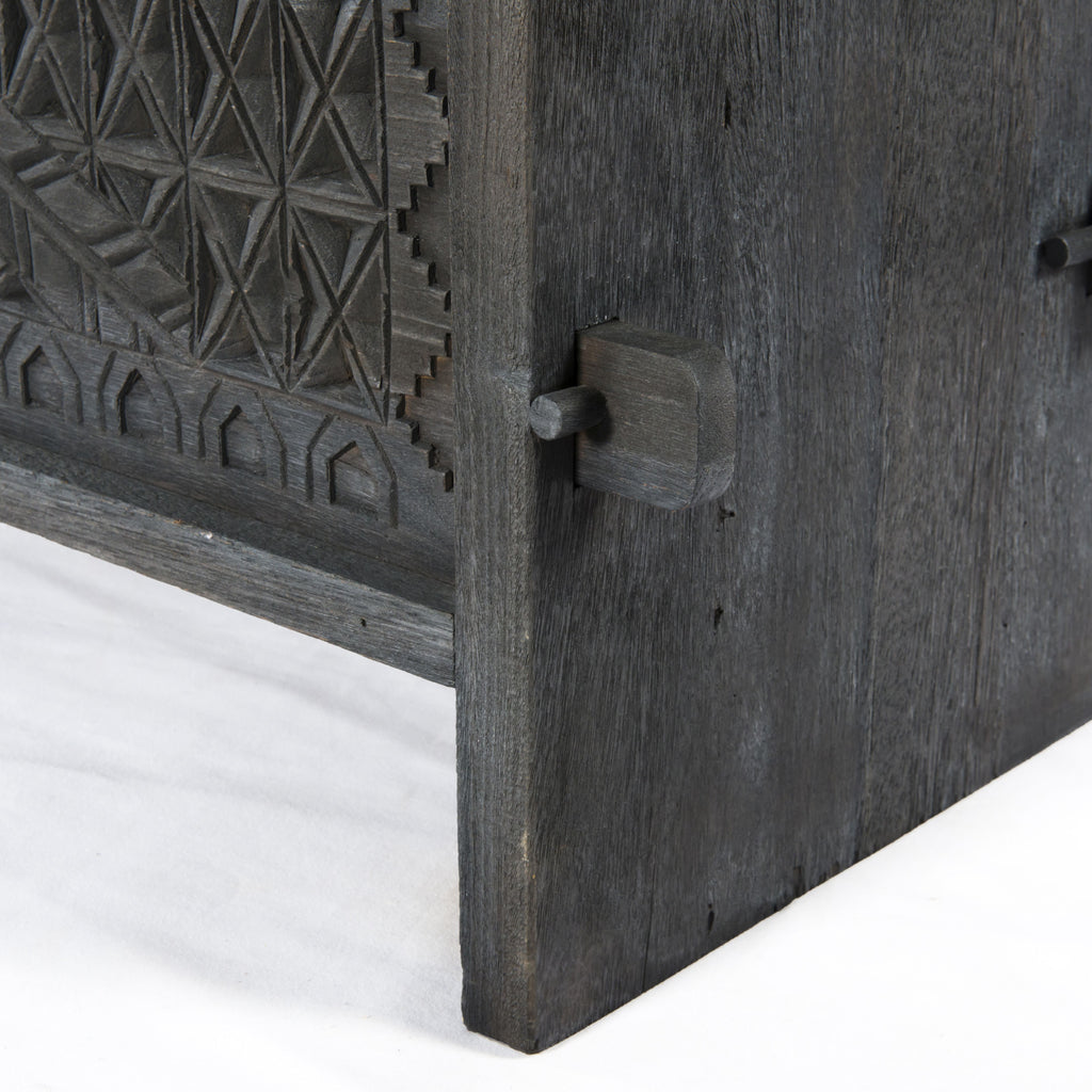 Columbus Trunk Console Table in Dark Totem