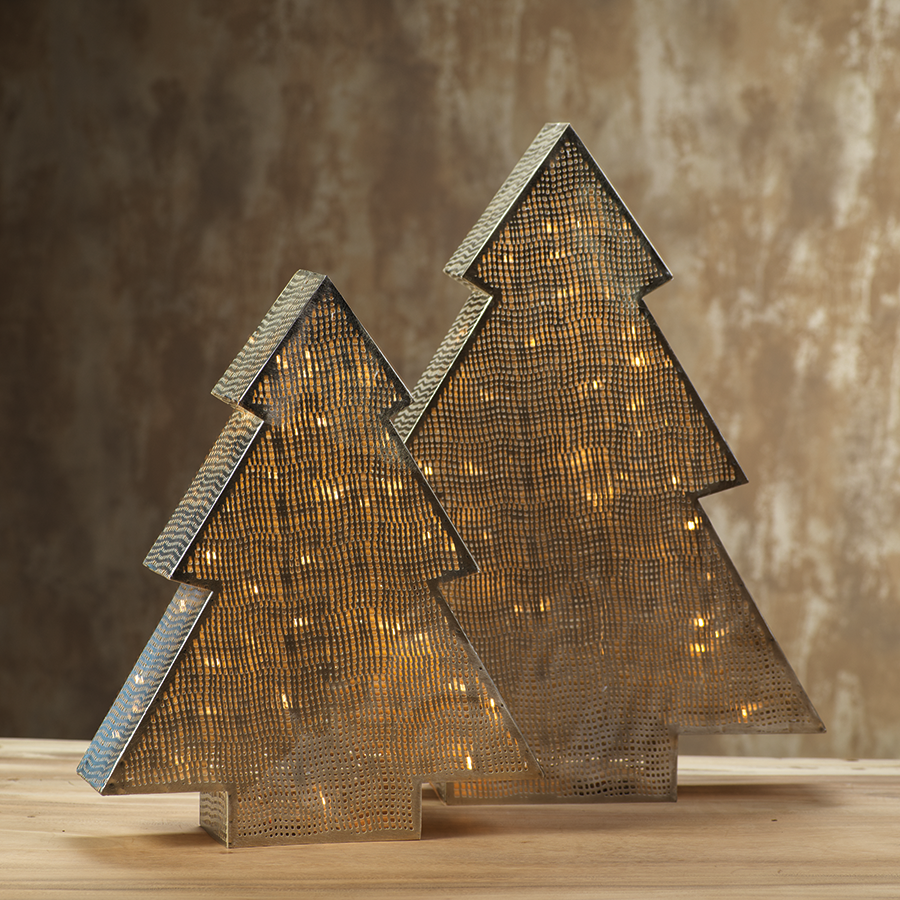 LED Tabletop Metal Tree Design Lamp in Various Sizes