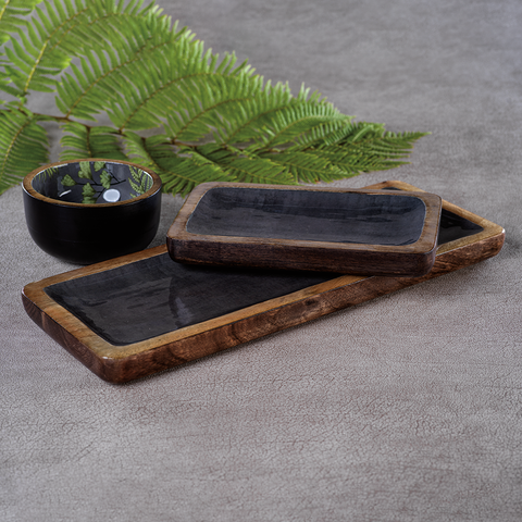 Desert Oasis Mango Wood Tray in Sedona Gray