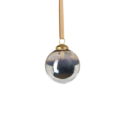 Ombre Luster Ornament - Silver in Various Sizes