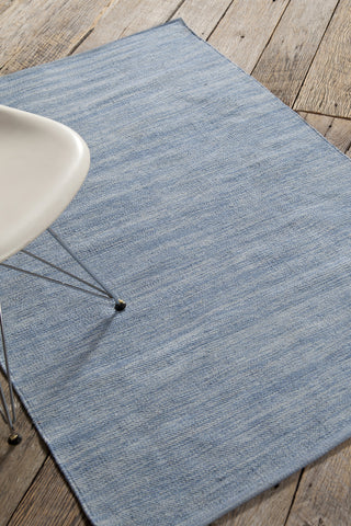 India Collection Hand-Woven Area Rug in Blue
