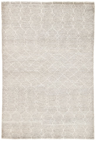 Margo Geometric Rug in Flint Gray & Cloud Dancer design by Jaipur