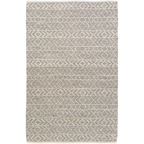 Ingrid ING-2000 Hand Woven Rug in Black & Ivory by Surya