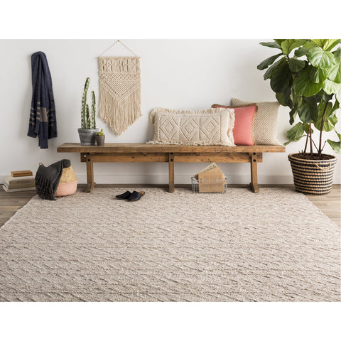 Ingrid ING-2004 Hand Woven Rug in White & Ivory by Surya