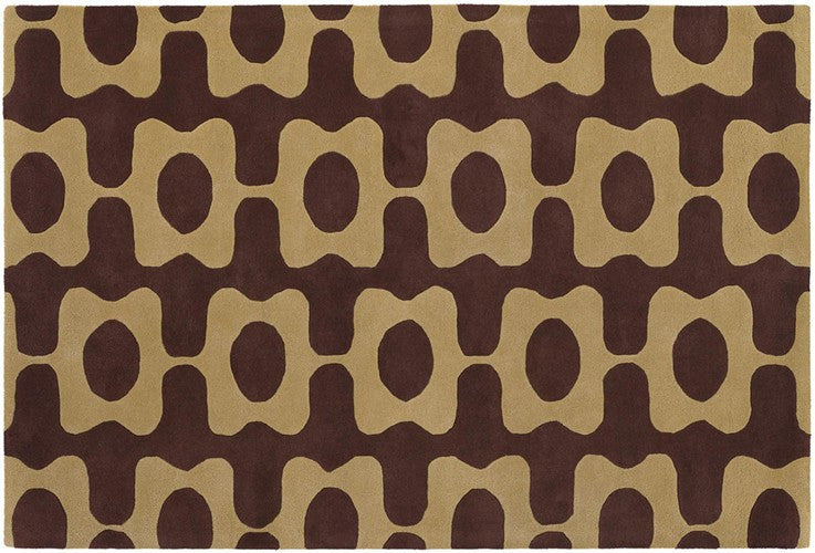 Inhabit Collection Hand-Tufted Area Rug, Brown & Beige