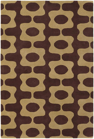 Inhabit Collection Hand-Tufted Area Rug, Brown & Beige design by Chandra rugs