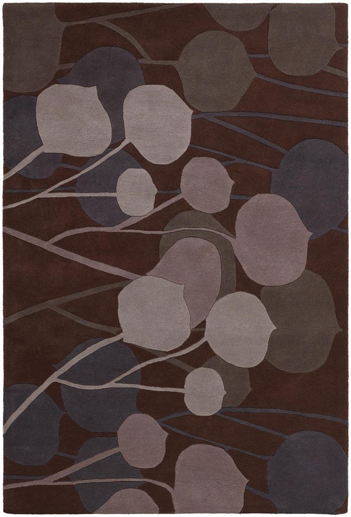 Inhabit Collection Hand-Tufted Area Rug, Purple design by Chandra rugs