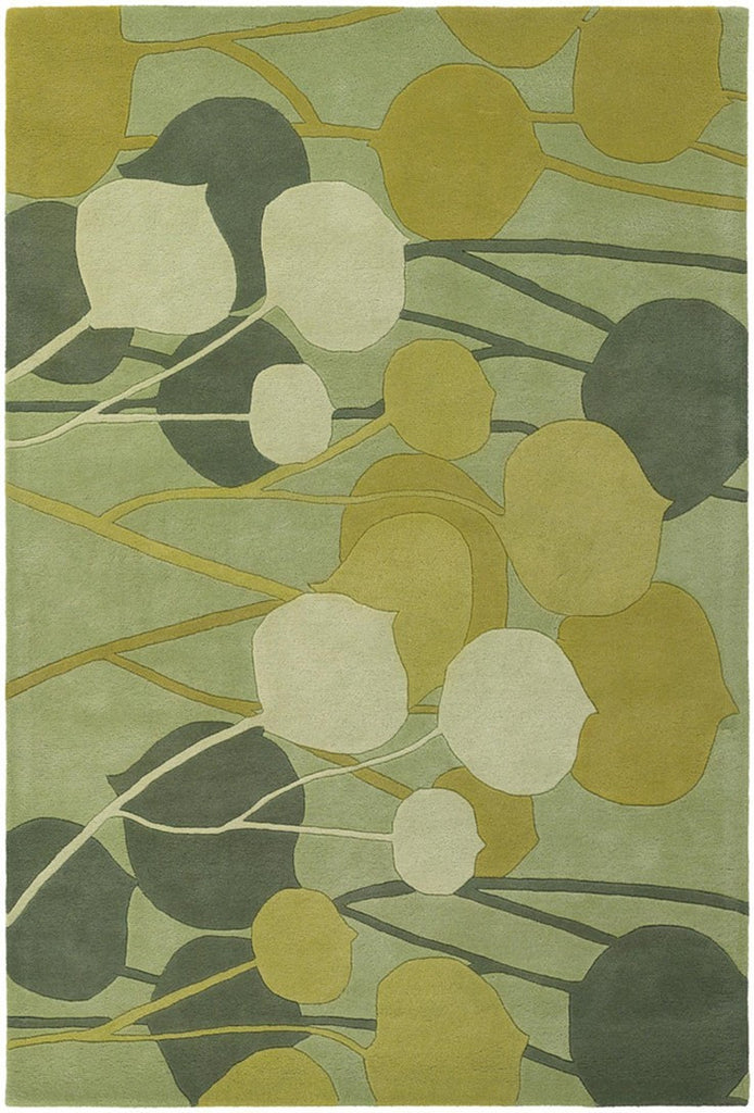 Inhabit Collection Hand-Tufted Area Rug, Green design by Chandra rugs