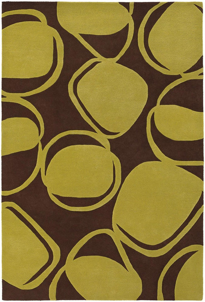 Inhabit Collection Hand-Tufted Area Rug, Brown & Green design by Chandra rugs