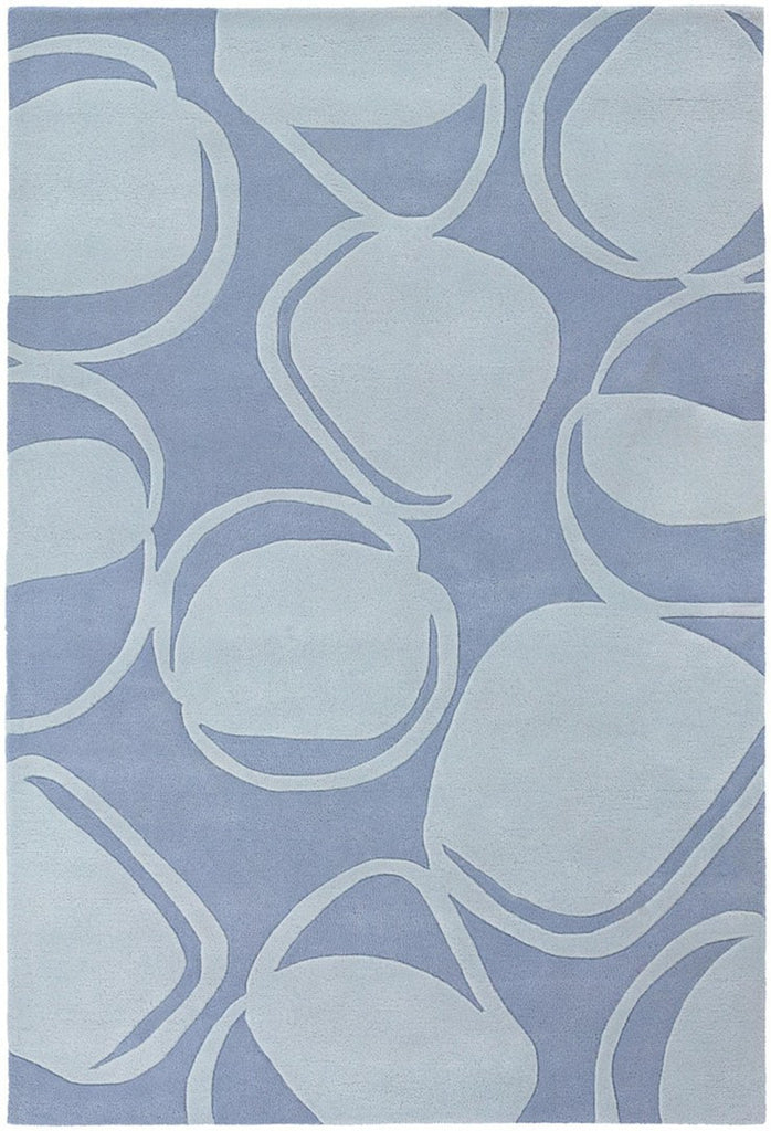 Inhabit Collection Hand-Tufted Area Rug, Blue design by Chandra rugs