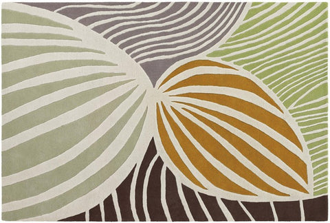 Inhabit Collection Hand-Tufted Area Rug, Orange & Green