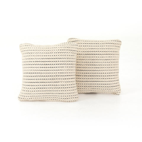 Ari Rope Weave Pillow Set of 2 in Various Sizes by BD Studio
