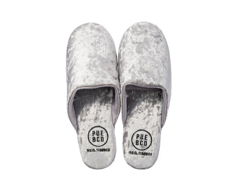 Velvet Slipper - Large - Silver