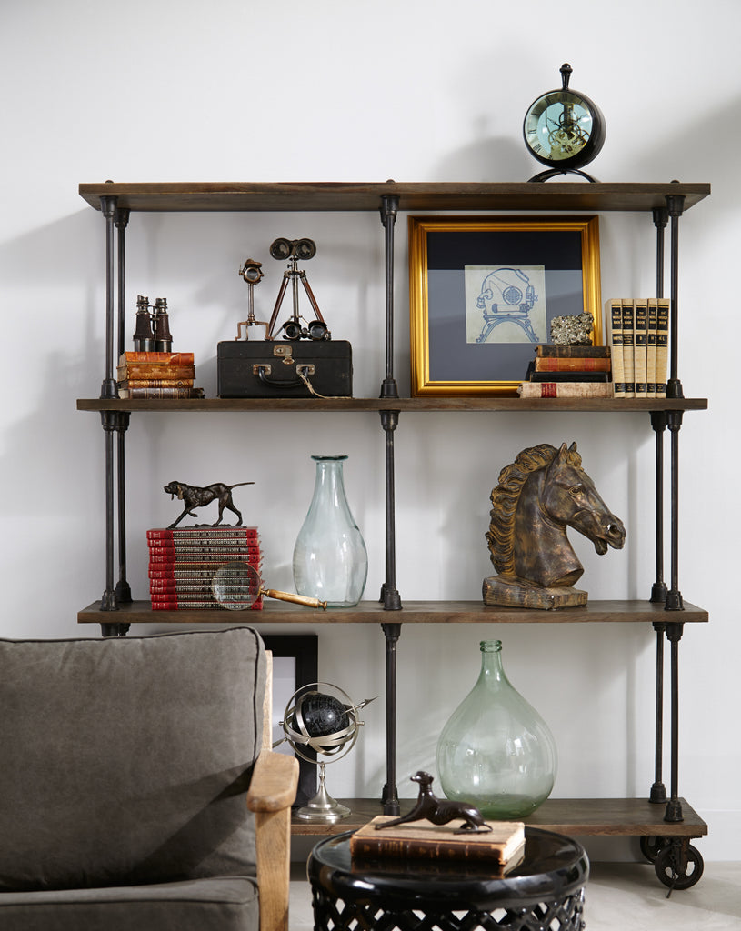 Rockwell Wooden Bookshelf In Natural Antique