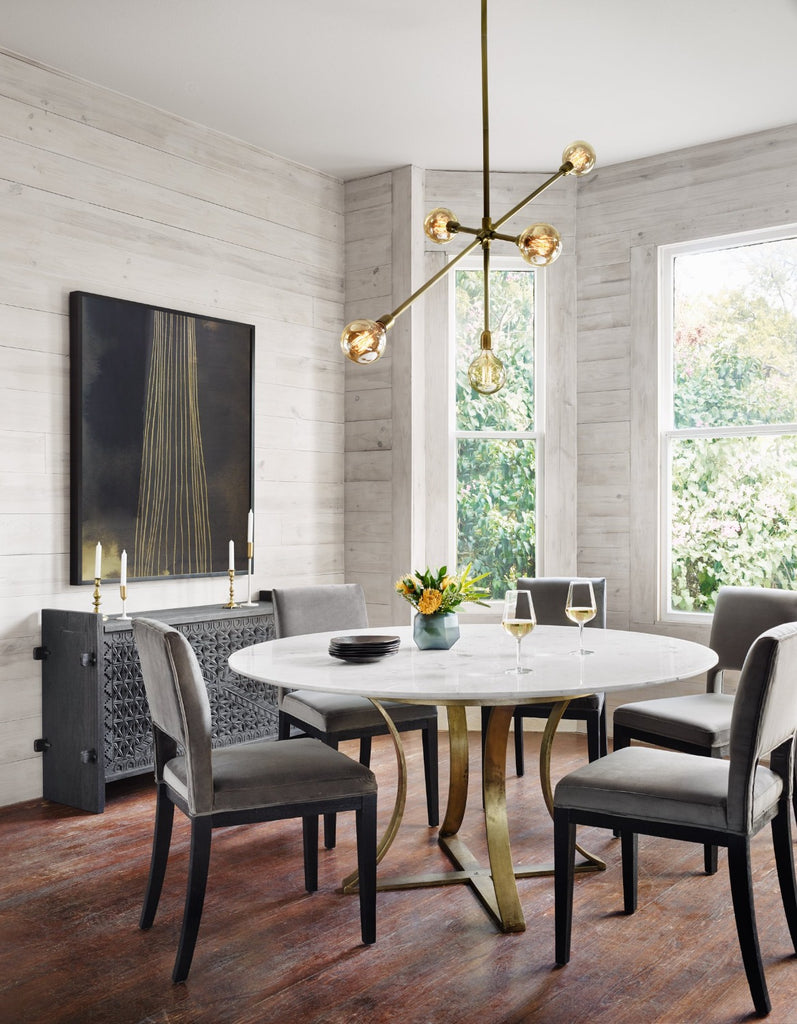 Gage Dining Table in Cast Brass