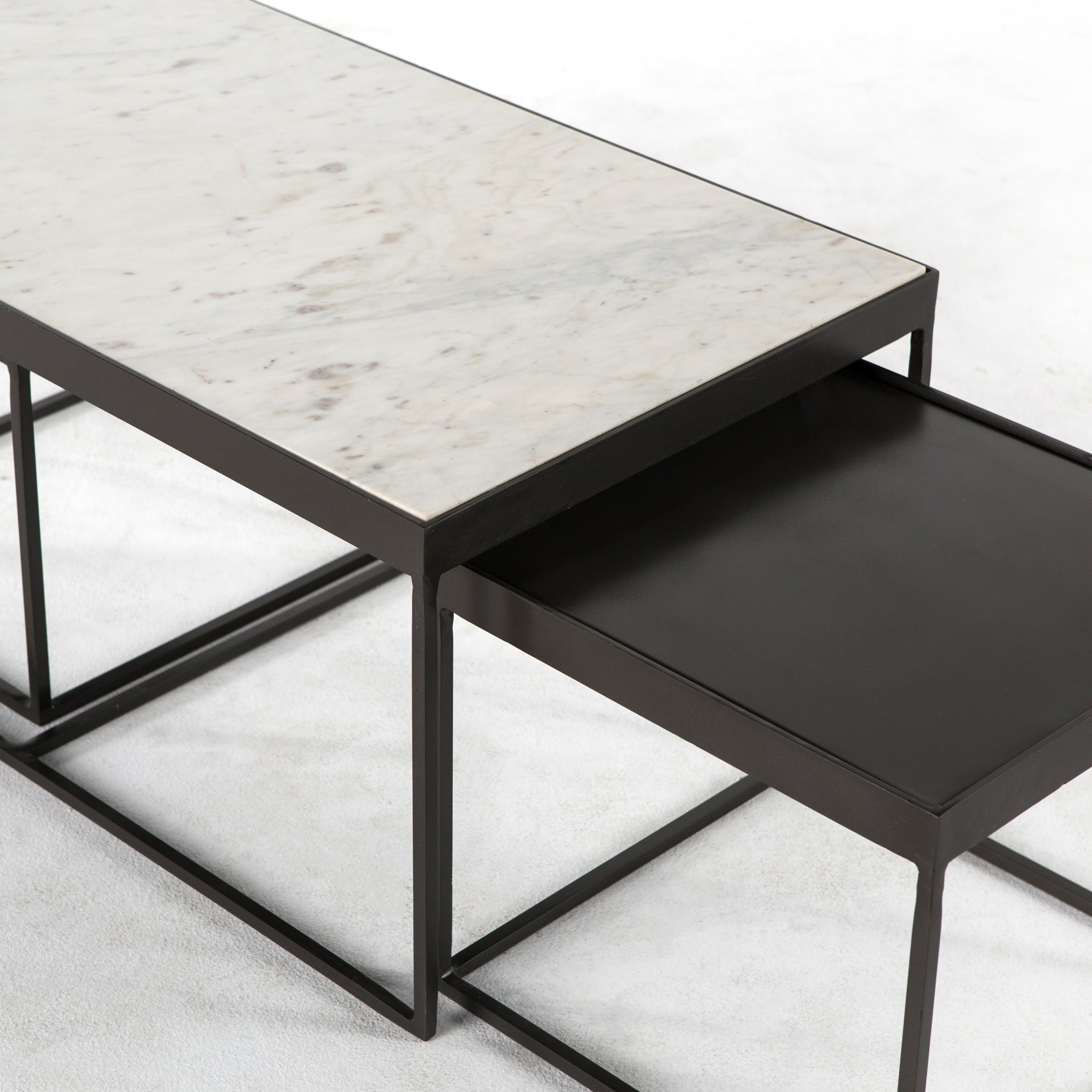 Evelyn nesting coffee table in gunmetal burke decor evelyn nesting coffee table in gunmetal watchthetrailerfo