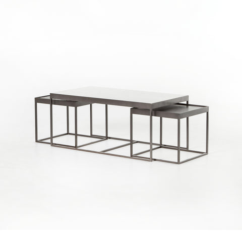Evelyn Nesting Coffee Table In Gunmetal