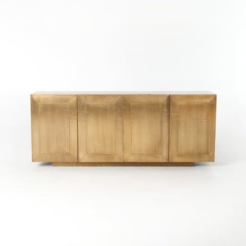 Freda Sideboard in Aged Brass Clad by BD Studio