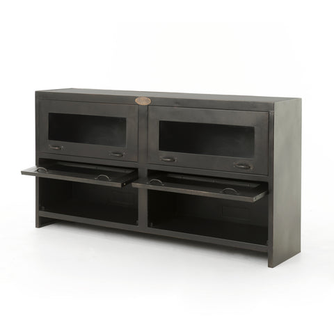 Rockwell Media Cabinet in Antique Iron by BD Studio