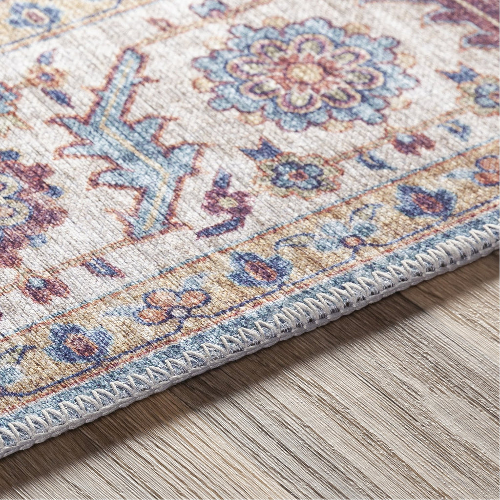 Iris IRS-2301 Rug in Navy & Mauve by Surya