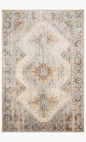 Isadora Rug in Oatmeal & Silver by Loloi II