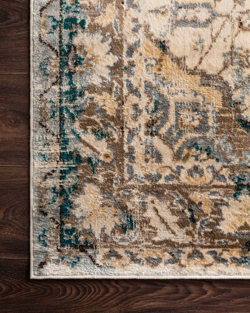 Isadora Rug in Oatmeal & Bark by Loloi II